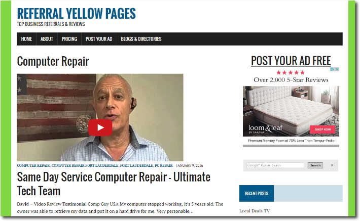Referral Yellow Pages